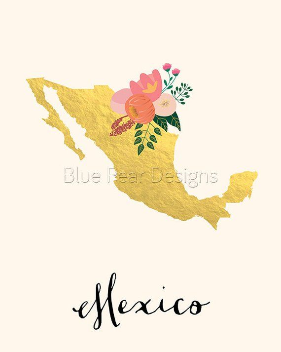 picture about Mexico Printable identify Mexico Map Mexico Artwork Mexico Poster Mexico Print Mexico
