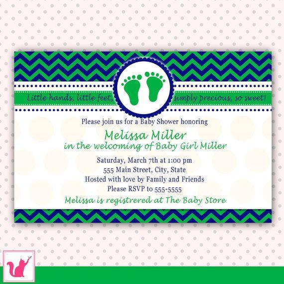 Baby Shower Invitation Card Blue