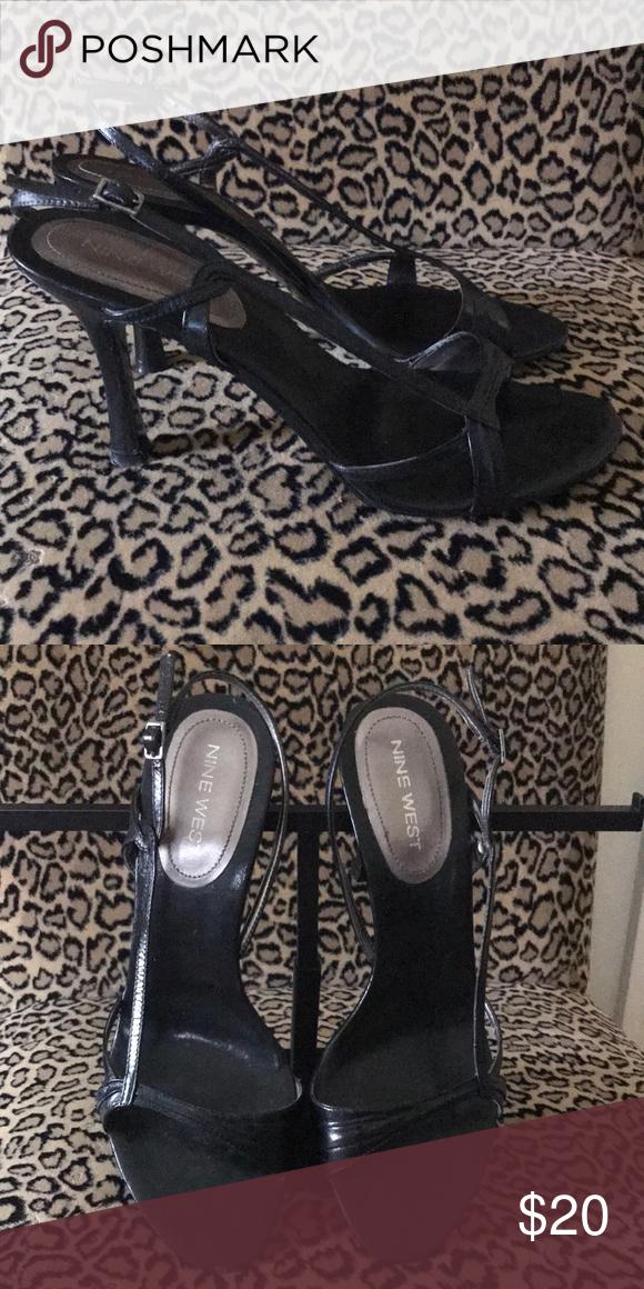 Nine West black strappy sandals   Black