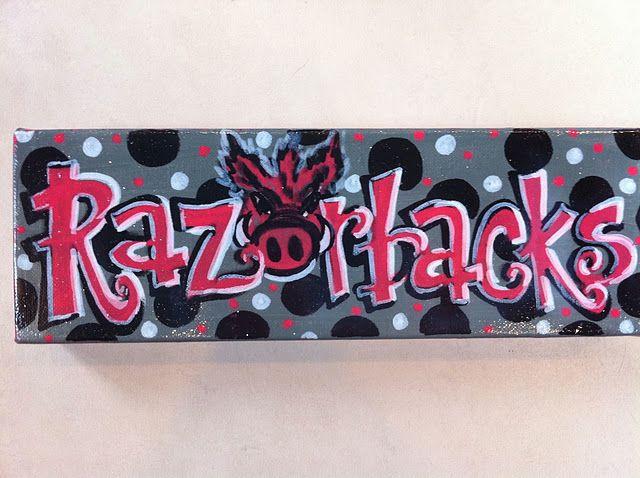 Razorbacks Canvas Arkansas Razorbacks Crafts Razorback Canvas Pig Sooie