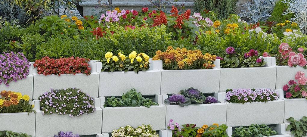 Decoraciones del jardin con bloques de cemento 13 - Jardineras de cemento ...