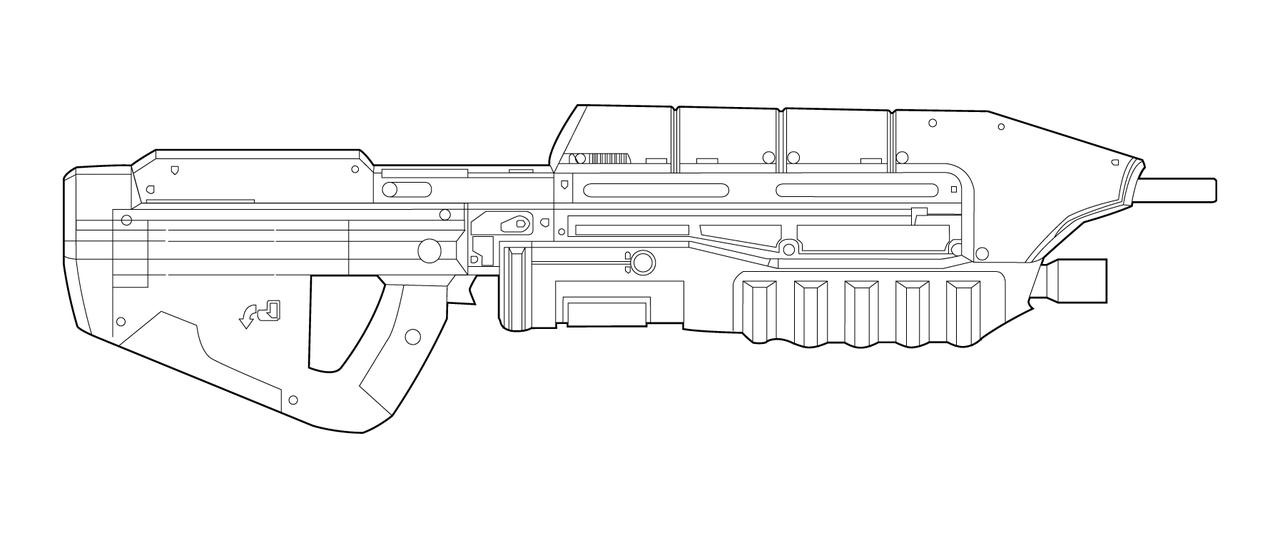 halo reach assault rifle blueprints - Google Search   Ethan armor