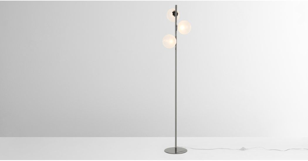 Globe Floor Lamp Black Nickel And Frosted Glass Globe Floor Lamp Lamp Floor Lamp