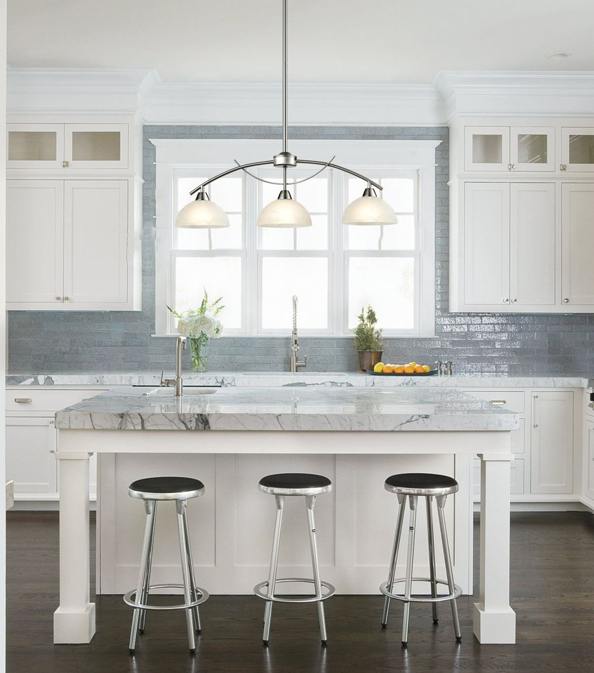 Modern Frosted Glass Shades Pendant Light Modern Glass Pendant Lights Over Kitchen Islan Glass Shade Pendant Light Glass Kitchen Kitchen Counter Island