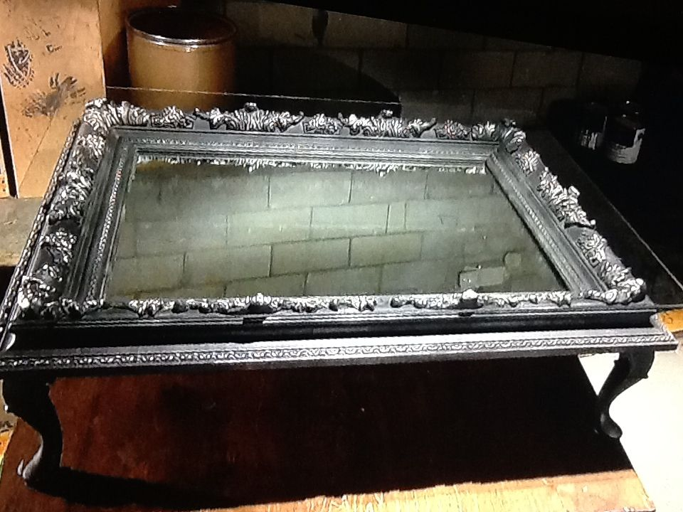Repurposed Picture Frame Add Legs To Transform Into Coffee Table End Table For Vintage Cottage Sty Hgtv Flea Market Flip Flea Market Flip Picture Frame Table