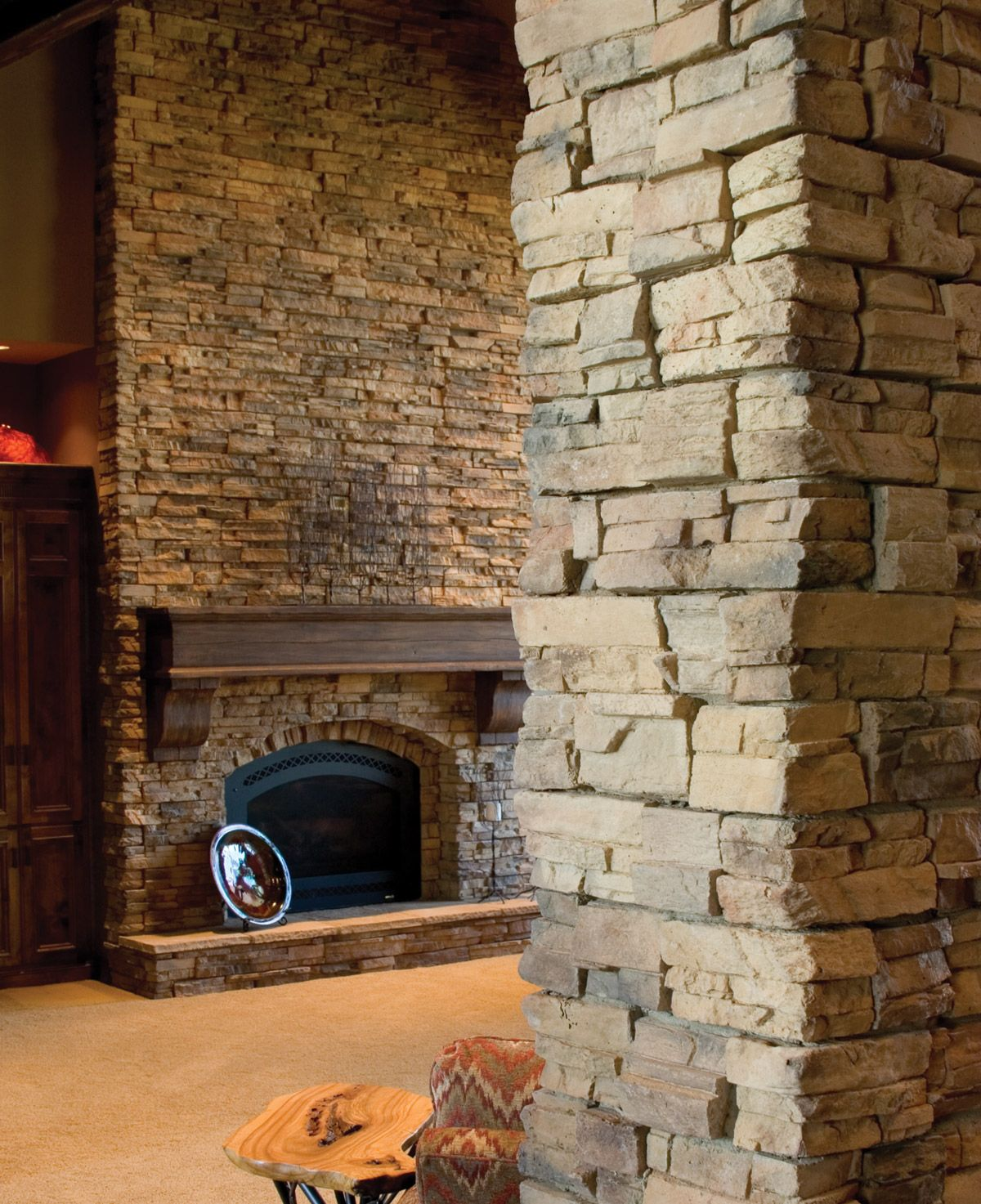 Love Interior Stone Wall. So Elegant And Unique. Easy To Do With Our  Residential
