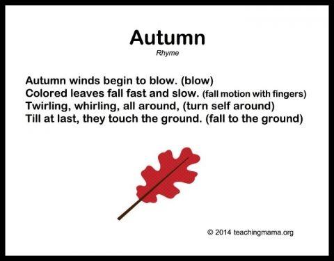 10 Autumn Songs For Preschoolers Preschool Preschool