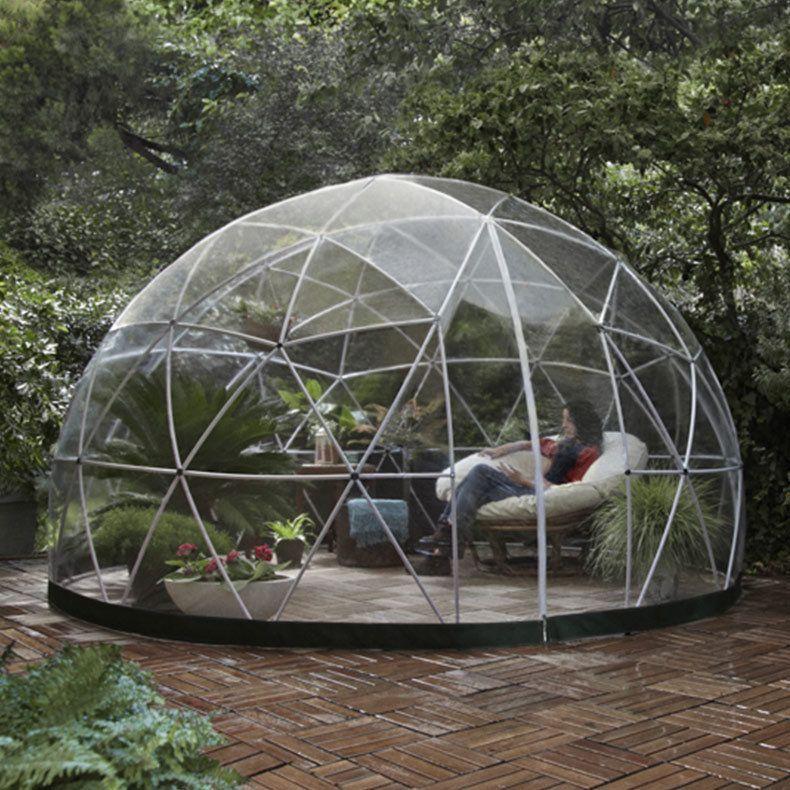 Jardin d hiver auvent d t serre g od sique garden igloo mod le 2015 id es - Exemple de jardinieres d hiver ...