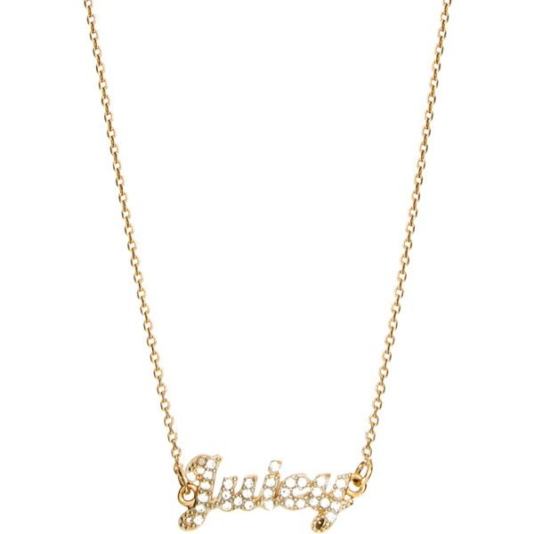 Juicy Couture Juicy Script Necklace ($69) ❤ liked on Polyvore