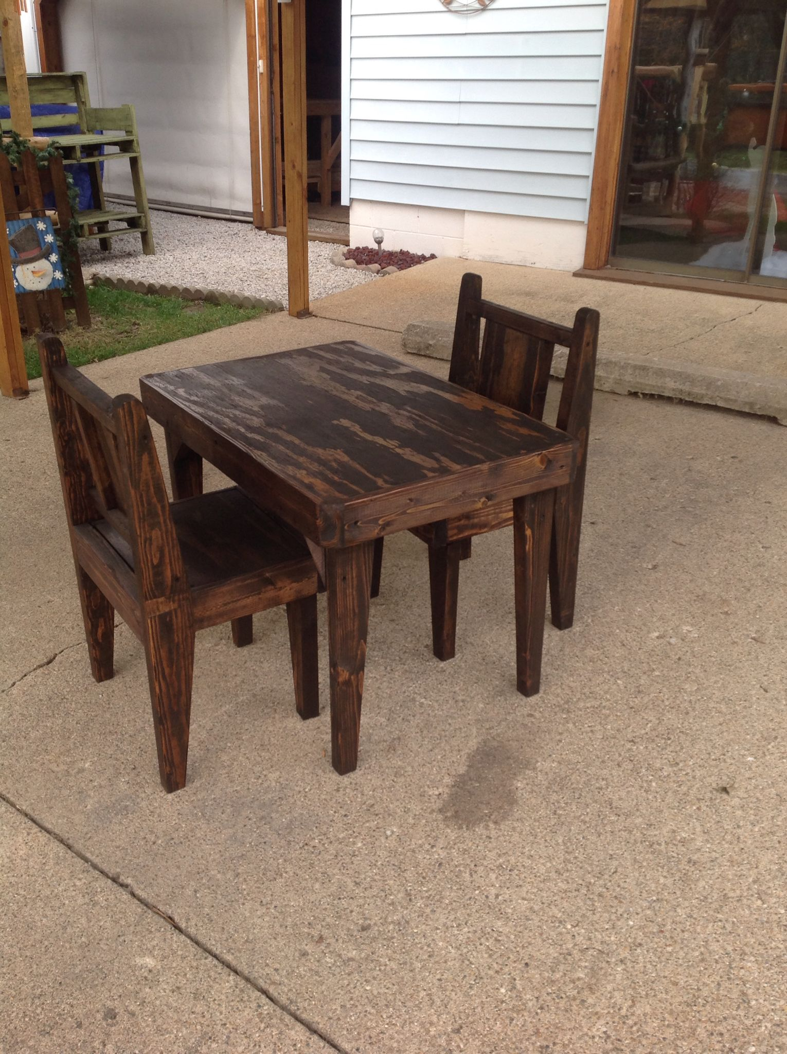 Rustic Kids Table Chairs We Made Here At Wooden Wonders, Waveland, In