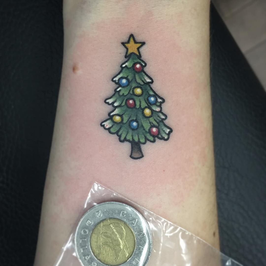 Christmas Tree Tattoo Designs.45 Christmas Tattoos To Make Your Holiday More Memorable