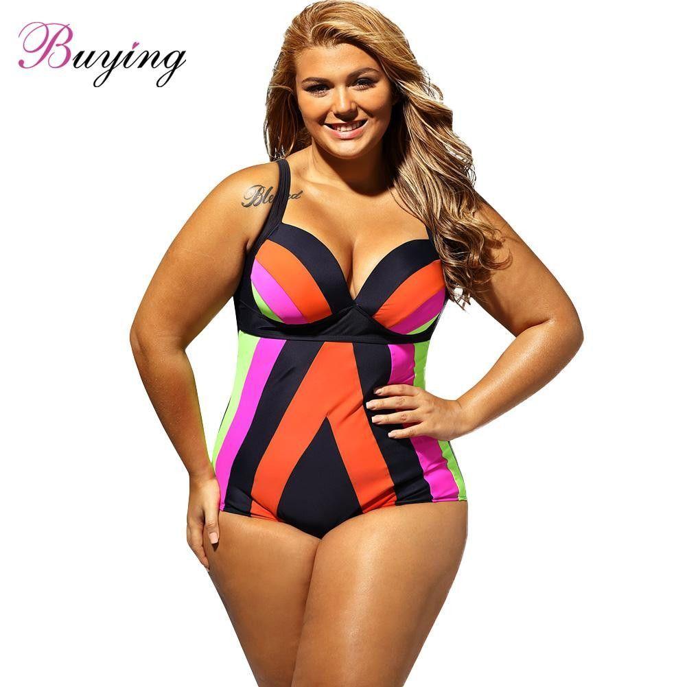 2171a15cce537 One Piece Swimsuit Stripe Print Swimwear Spaghetti Strap Push Up ...