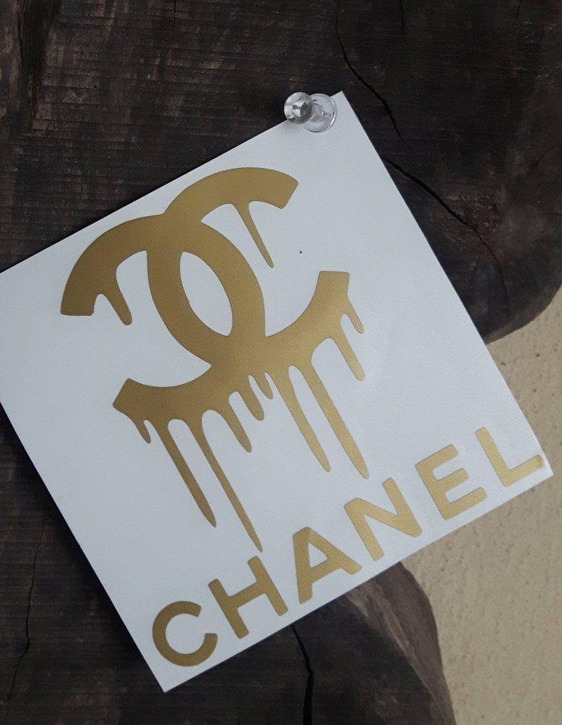 Chanel dripping cc sticker 1 size 3 8