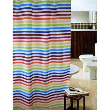 Shower curtains bathroom accessories briscoes shower curtain c9 rainbow stripe 120x181