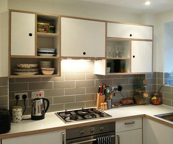 Custom Formica and plywood kitchen