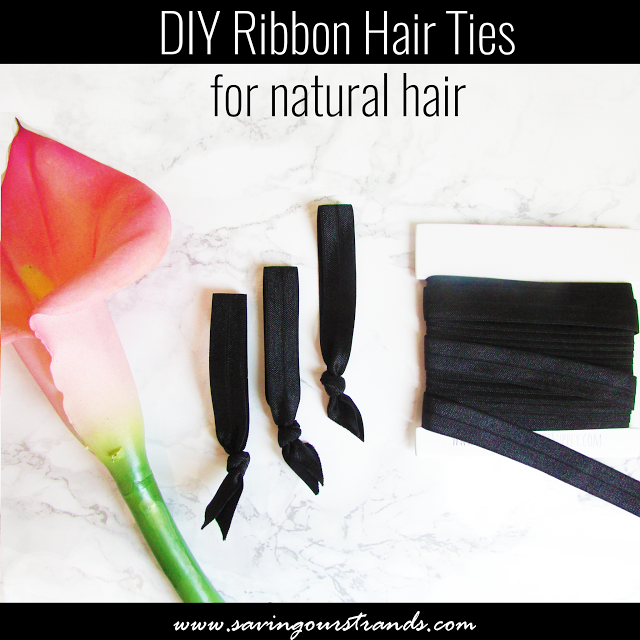 Elastic Ribbon Hair Tie DIY Perfect for high puffs on  naturalhair ... afcdbdb183a