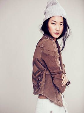 Free People We The Free Moto Patch Jacket, $148.00