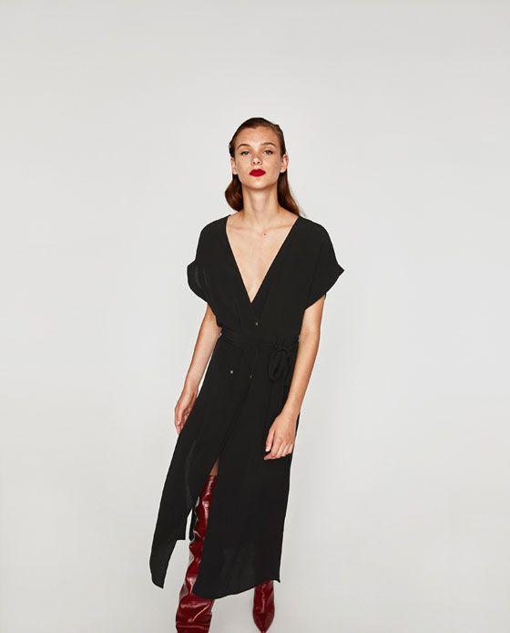 Vestido largo mujer zara