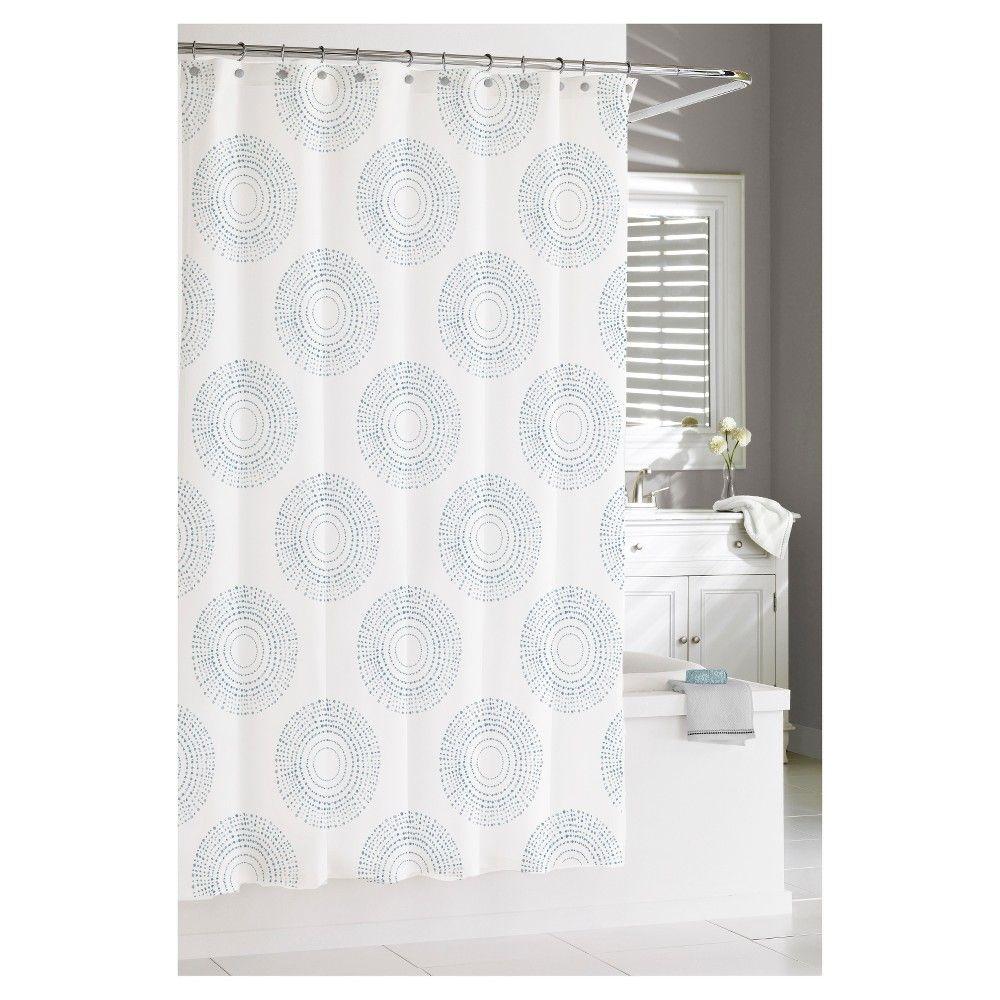 Starburst shower curtain greymulticolored