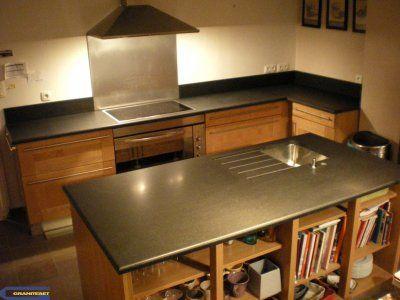 Cuisine avec granit noir absolu adouci Cuisine Pinterest - Table De Cuisine Avec Plan De Travail