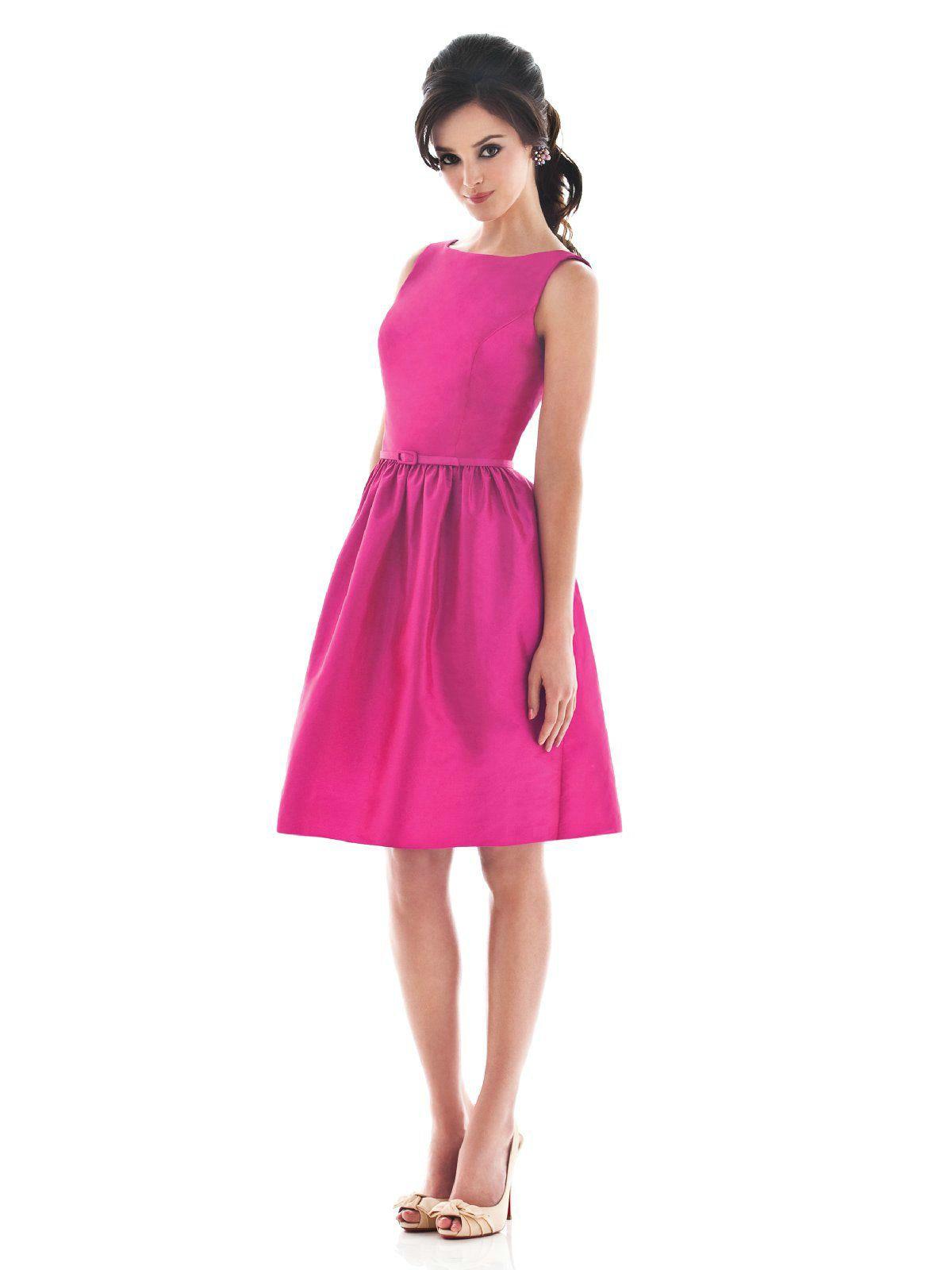 Sweetheart Short Modest Sweetheart Fuchsia Bridesmaid Dresses | Fab ...