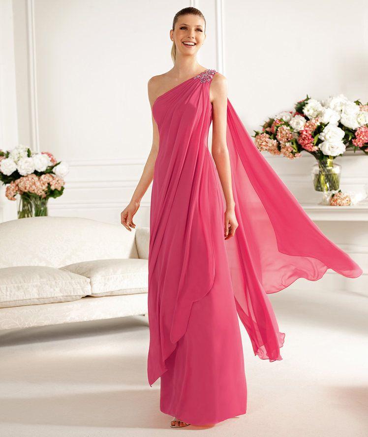 vestido griego rosa | ropa | Pinterest | Vestido griego, La invitada ...