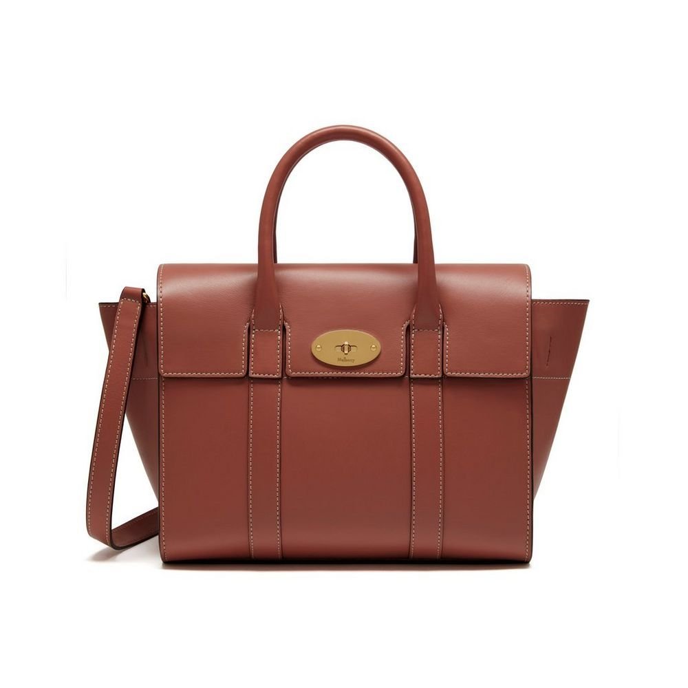 Small New Bayswater Antique Pink Silky Calf Women Mulberry Bags Mulberry Icon Bags Designer