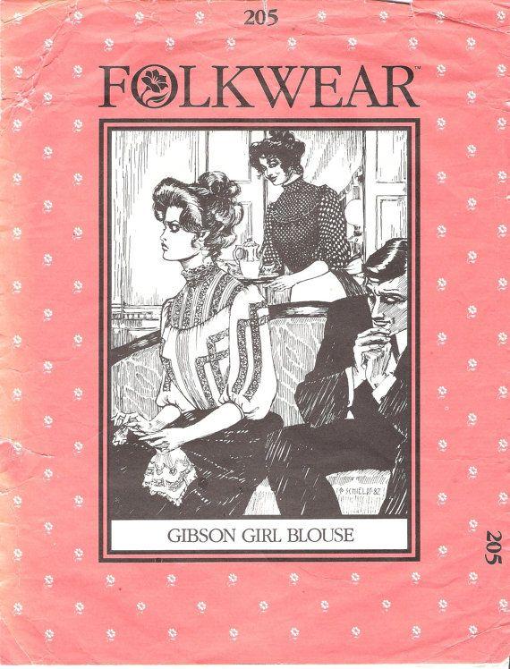 Folkwear 205 Gibson Girl Blouse Sewing Pattern