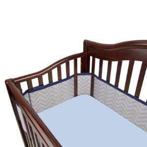 Breathable Crib Bumper Crib Liners Cribs Blue Crib