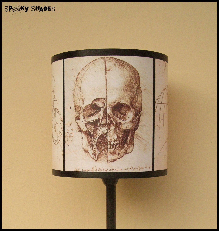 Vinci Lampshade Da Shade Leonardo Gothic Lamp Home Skull Drum nP8Ok0w