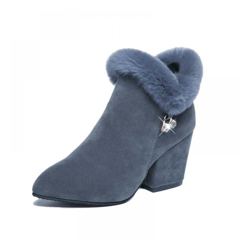 5d2402d6748f5 Winter Shoes Square High Heels Warm Luxury Ladies Boot Price  33.96   FREE  Shipping  beautiful  love  indozstyle