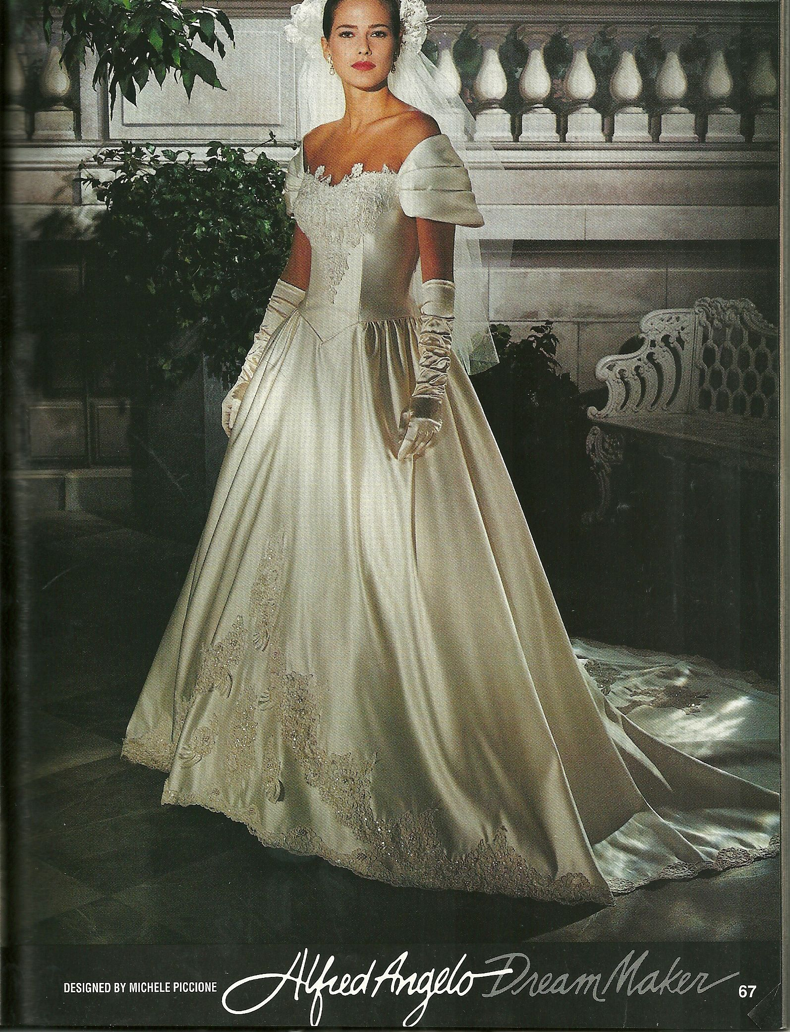 Alfred Angelo 1992 Bridal Gowns Vintage Beautiful Wedding Gowns