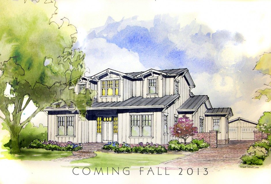 Watercolor House Renderings This Watercolor Rendering For