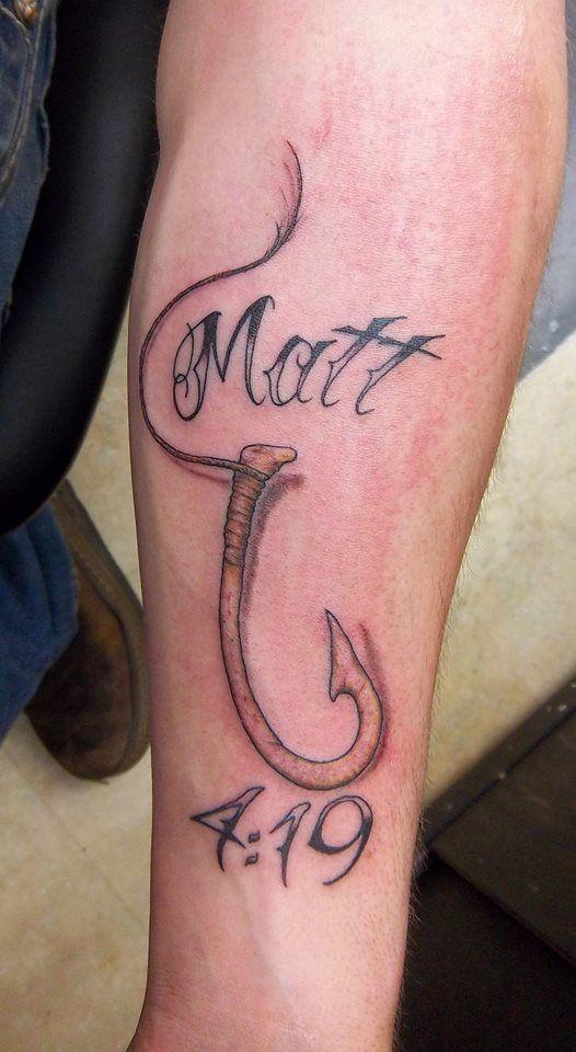 Fish hook bible verse tattoo | Holy Roller Tattoo: Tattoos ...