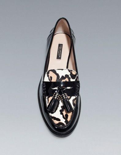 la meilleure attitude 3f710 5ef4a New Zara MOCASSIN À POMPONS LÉOPARD | Animal Prints!! My ...