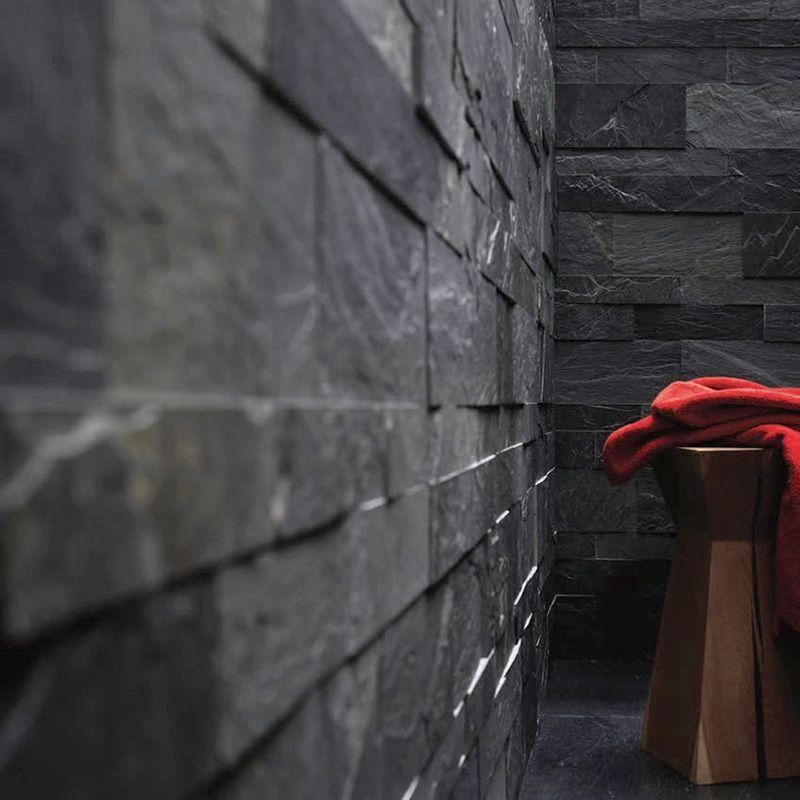 feuille de pierre naturelle 15 x 60 cm moscow sesame black en 2020 feuille de pierre
