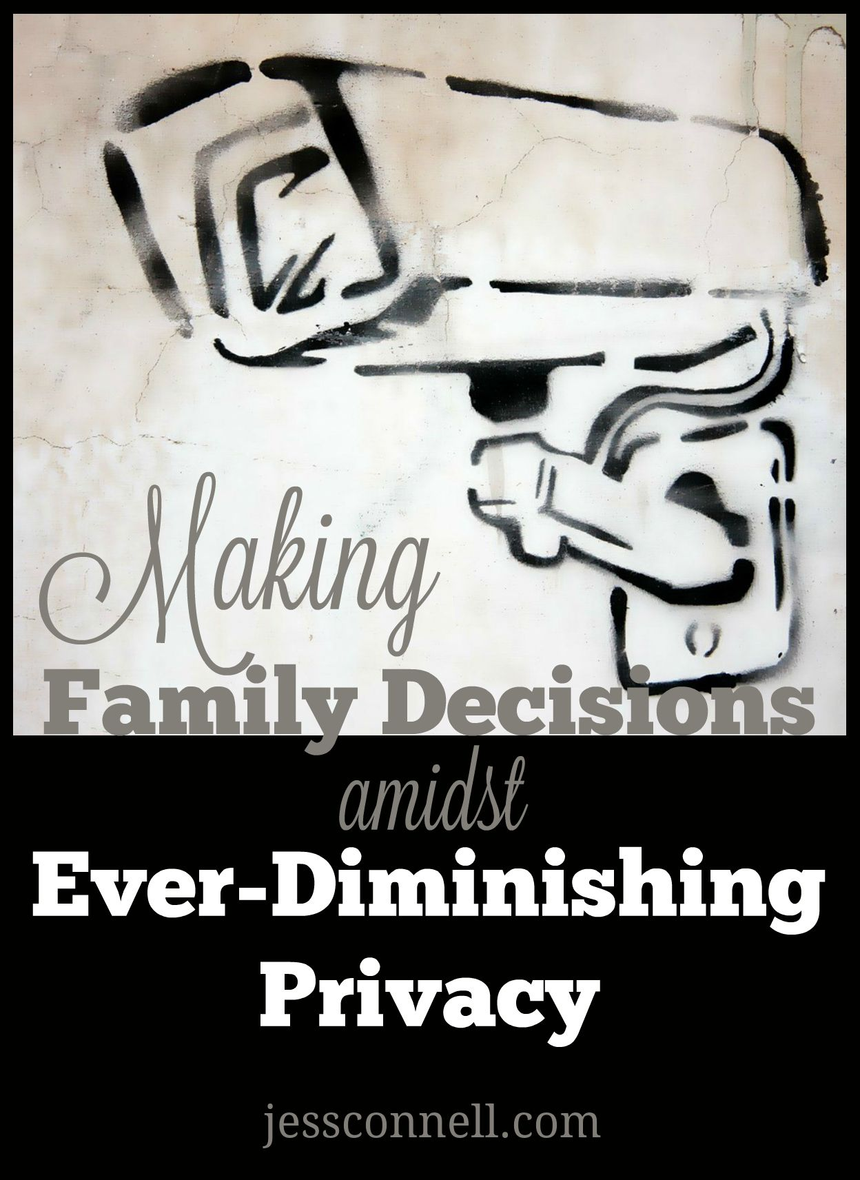 Making Family Decisions amidst Ever-Diminishing Privacy // webcams, remote-access devices, social media-- how will you navigate these things with your family and children? // jessconnell.com
