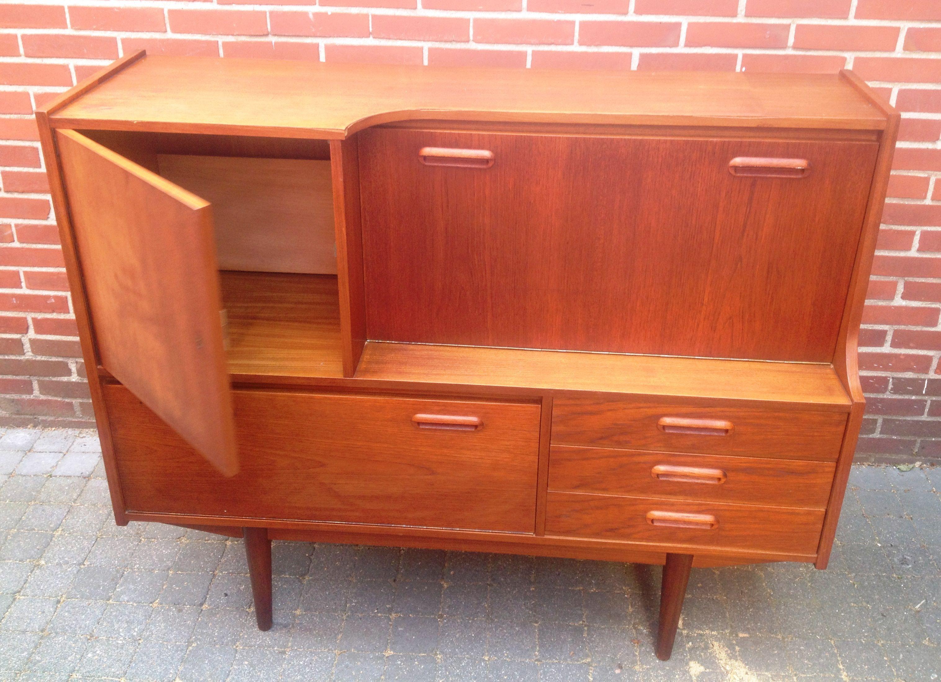 Stoer retro dressoir buffetkast gemaakt van teakhout of for Tweedehands meubilair