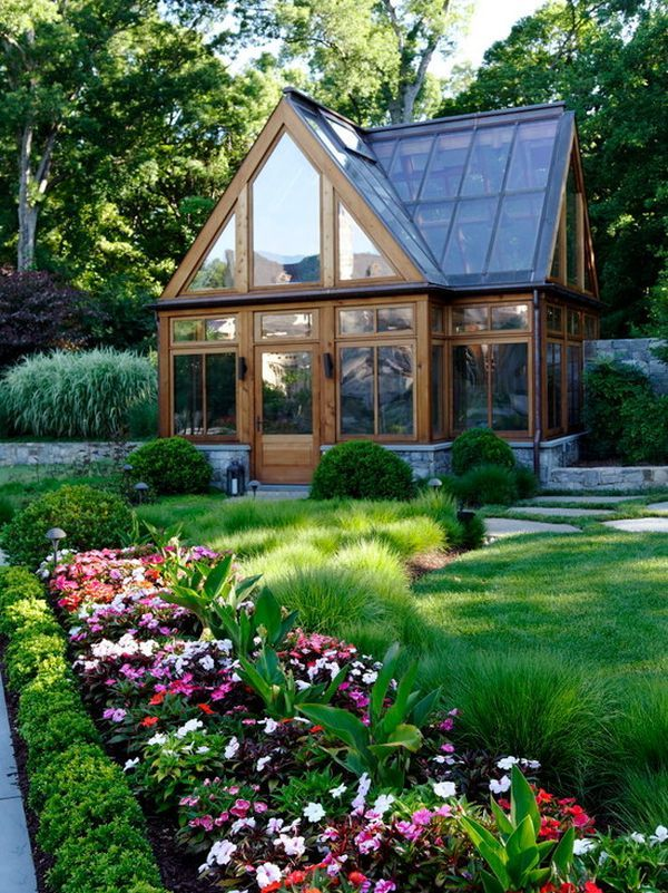 Stylish Greenhouse Design Inspiration Traditional Landscape Garden Landscape Design Greenhouse Gardening