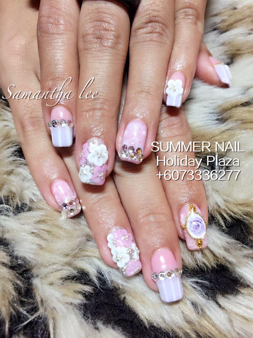 Summer Nail Holiday Plaza Mcdonald S Upstairs 3rd Floor 6073336277 Whatsapp 60163188359 Instagram Artificial Nails Summer Nails