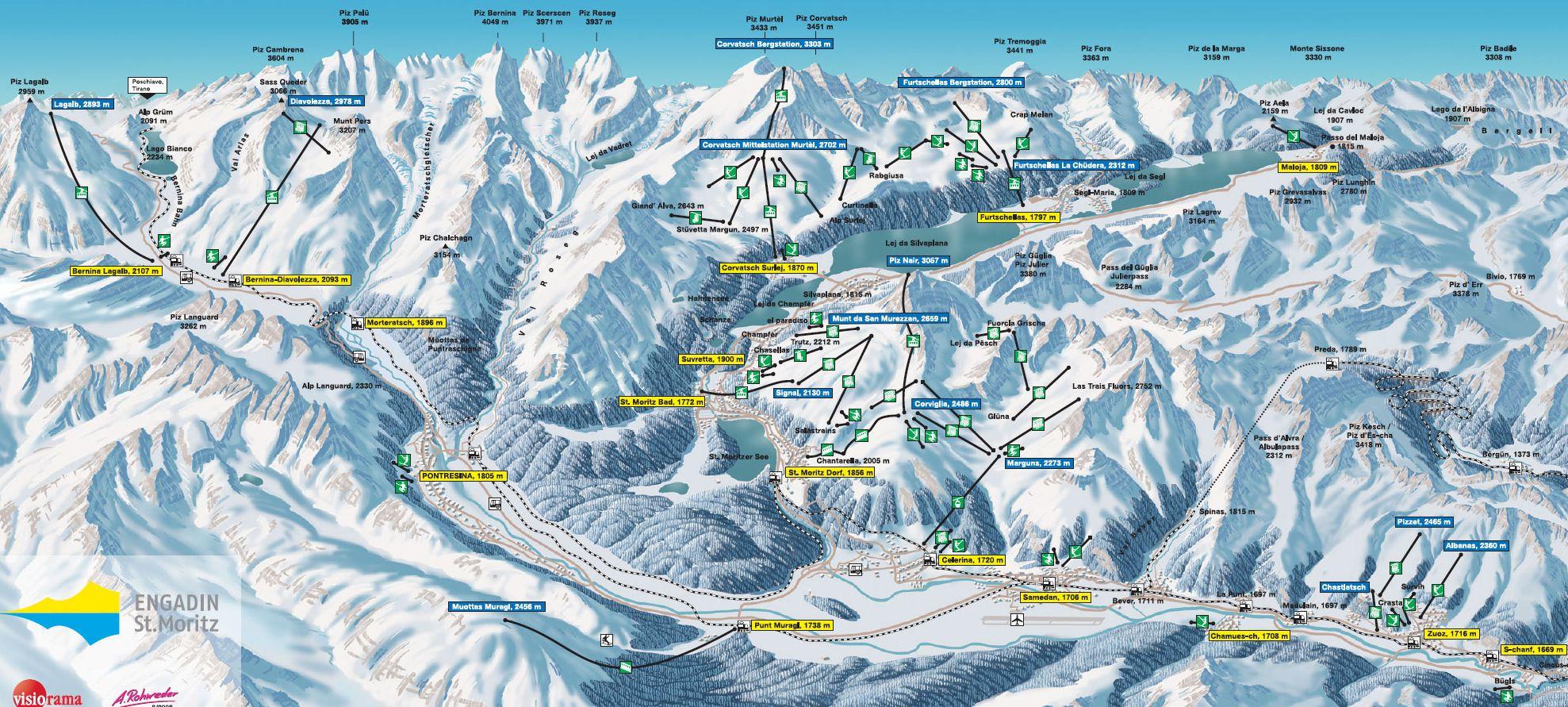 St. Moritz - Бронируйте апартаменты и шале у bei ski-suisse.com