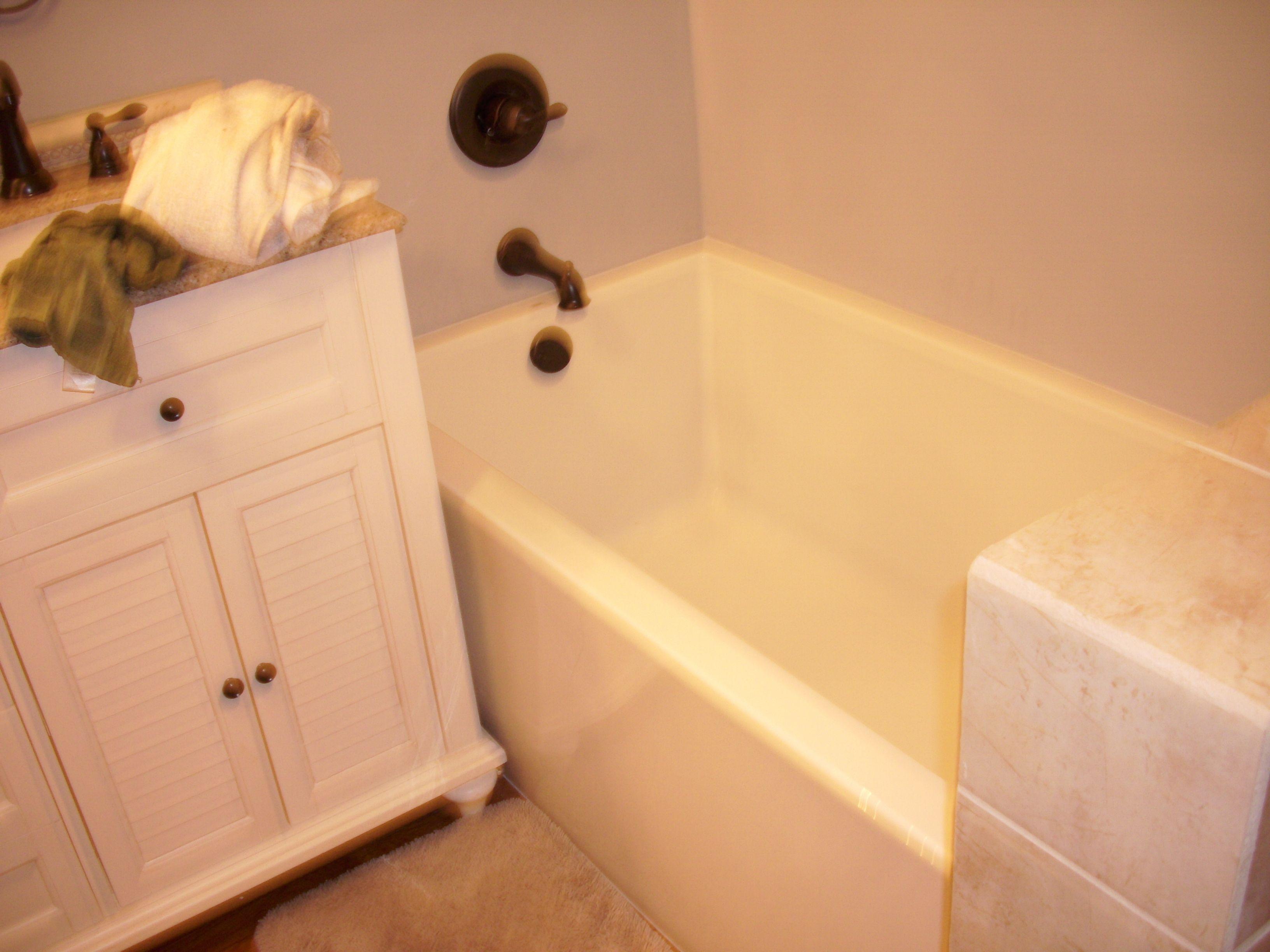 Glamour bathtub with knee wall. | Bathroom Remodels | Pinterest