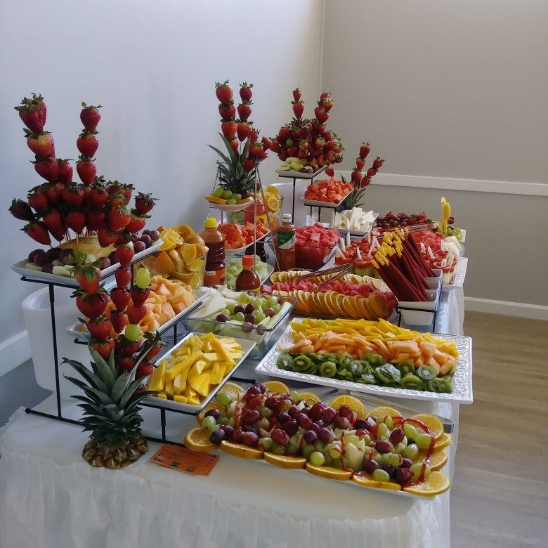 Pin By Tomika Biggs Lucas On Frutas Fruit Tables Party Snack