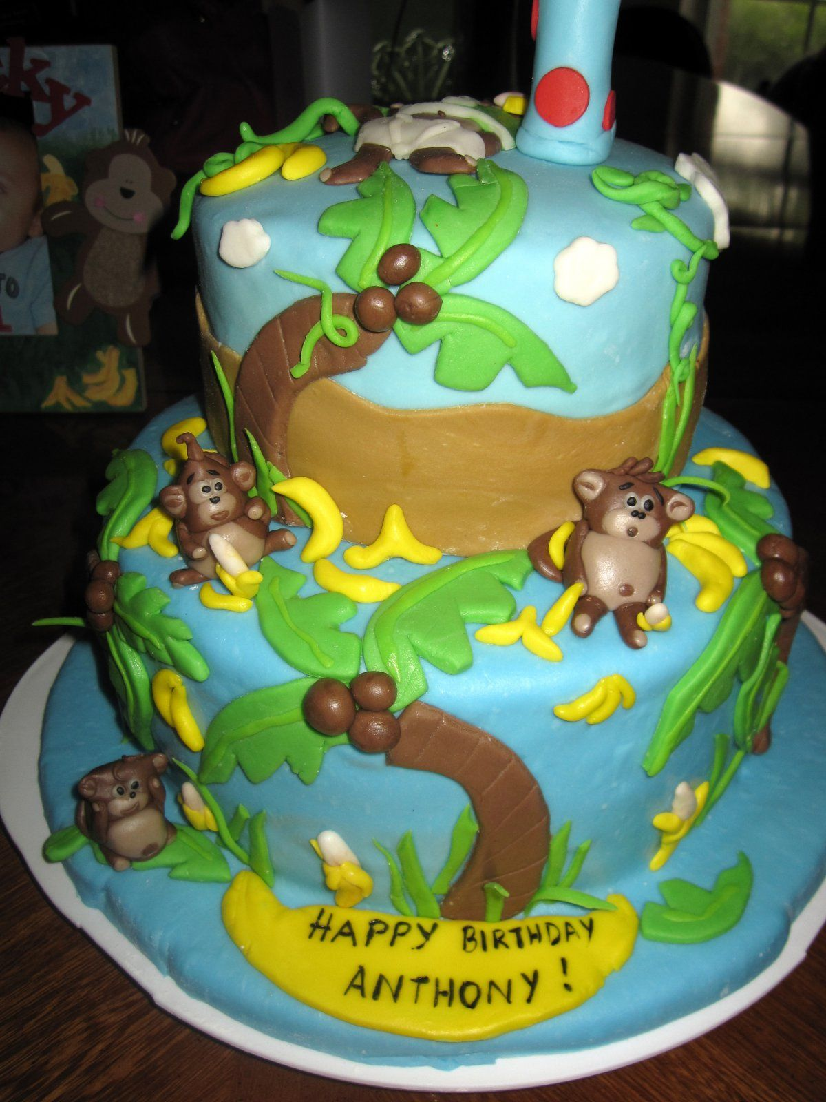 baby boys first birthday cakes The ultimate monkey cake This was