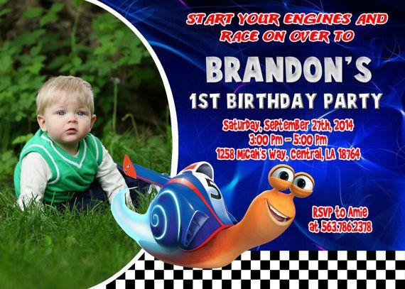 Turbo Birthday Party Invitation  Printable by FantasticInvitation, $8.99