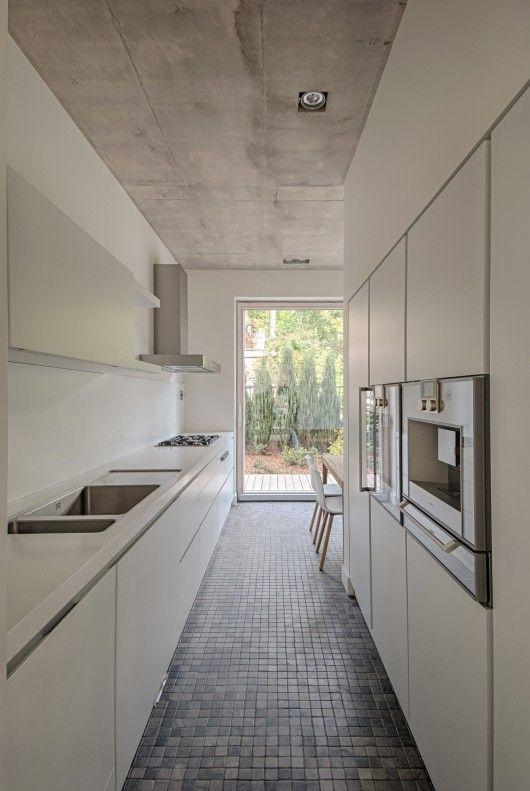 House In Vilnius Aketuri Architektai Galley Kitchen Layout Galley Kitchen Design Kitchen Layout