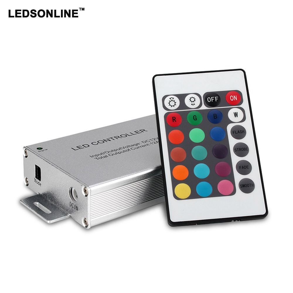 Led Controller 24 44 Keys Led Ir Rgb Controler Ir Remote Dimmer Dc12v 144w For Smd 3528 5050 10m 20m Led Rgb Strip Lights Lighting Led Dimmer Lighting