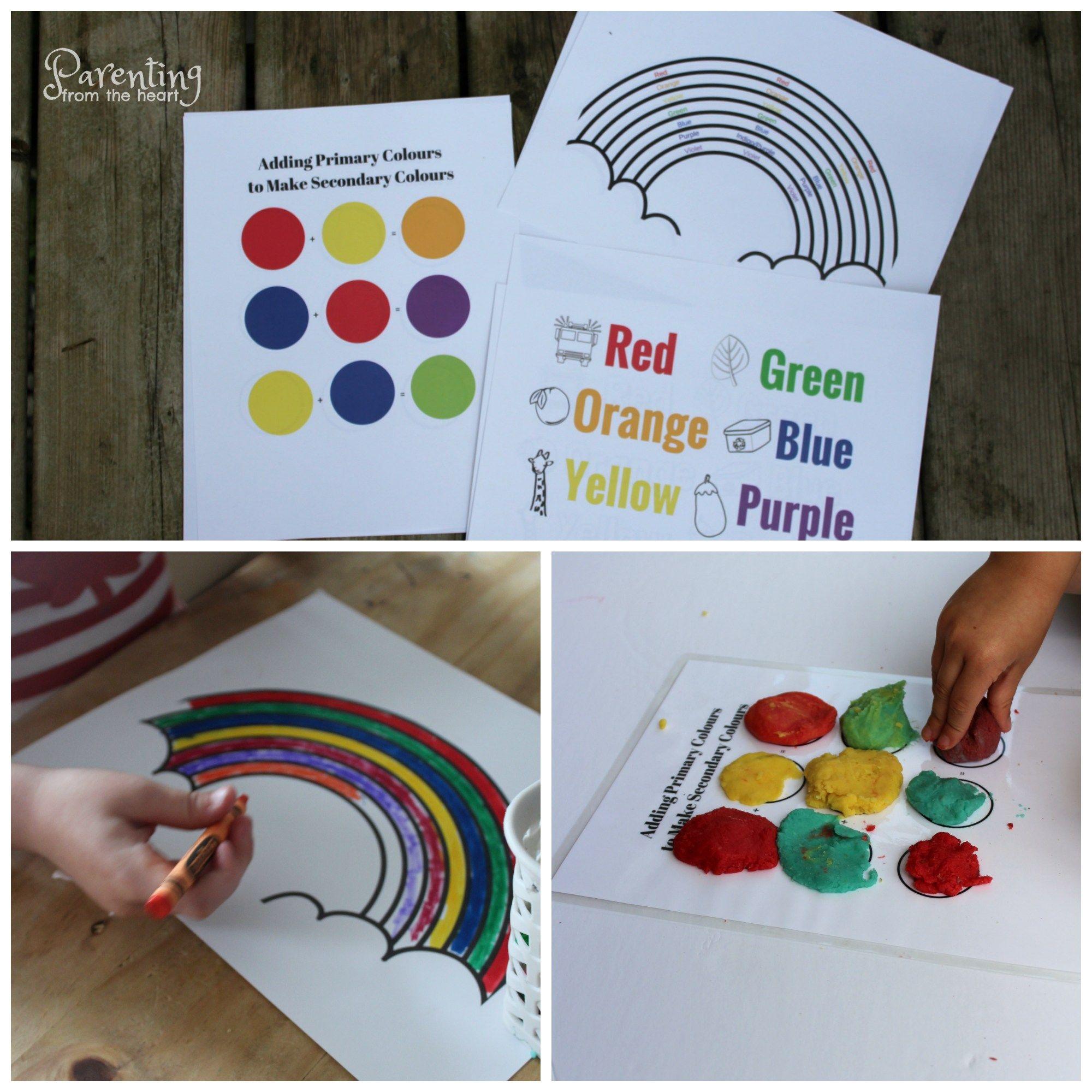 Printable Rainbow Activity Booklet For Preschoolers