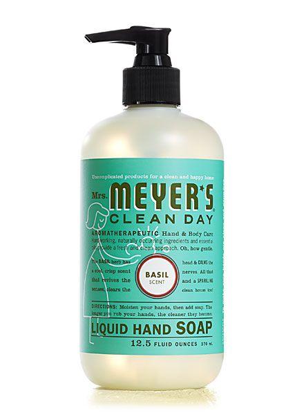 Mrs Meyer S Liquid Hand Soap And Dish Soap In Basil Good Stuff