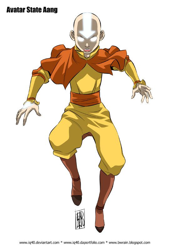 Aang Enters The Avatar State : enters, avatar, state, Draw